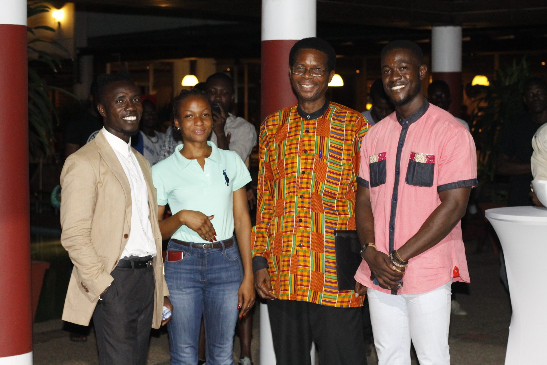 With friends and and Prof. from KNUST