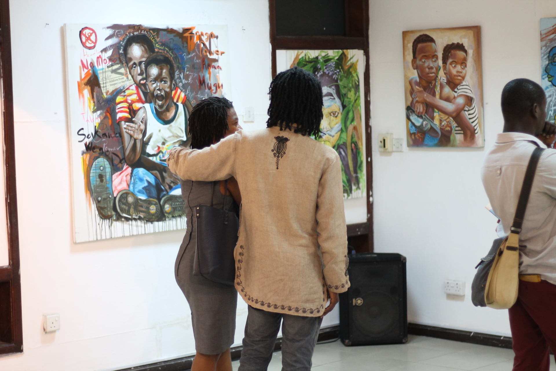 One of Ghana's best sculptor Kwame Akoto and his friend